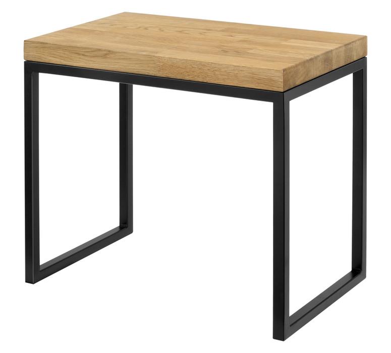 Stolik z naturalnym blatem - lite drewno Model 483