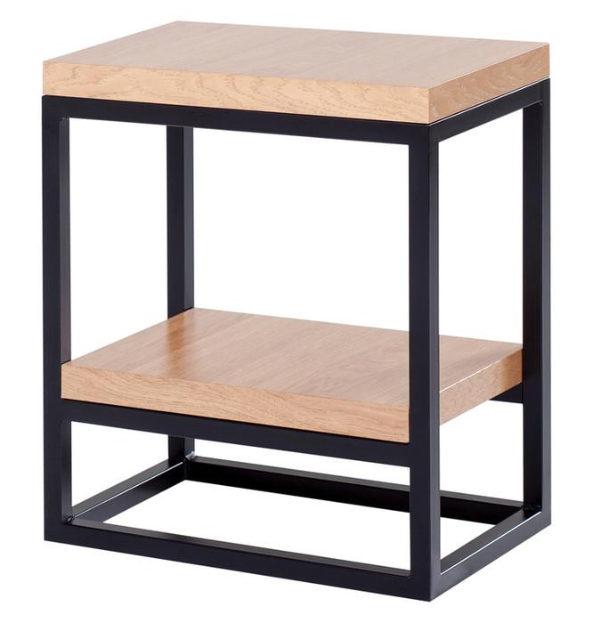 Stolik 2 półki mały - drewniana okleina Model 499